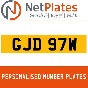 1900 GJD 97W Private Number Plate from NetPlates Ltd For Sale