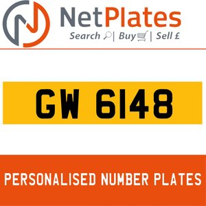1900 GW 6148 Private Number Plate from NetPlates Ltd For Sale