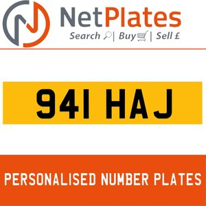 1900 941 HAJ Private Number Plate from NetPlates Ltd For Sale