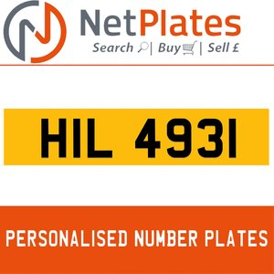 HIL 4931 Private Number Plate from NetPlates Ltd