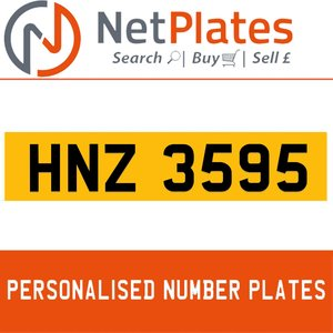 1900 HNZ 3595 Private Number Plate from NetPlates Ltd For Sale