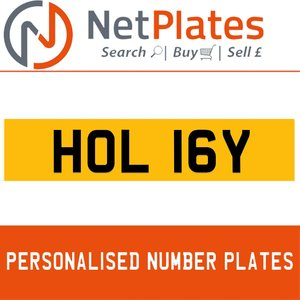 1900 HOL 16Y Private Number Plate from NetPlates Ltd For Sale