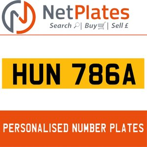 1900 HUN 786A Private Number Plate from NetPlates Ltd For Sale