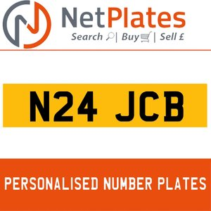1900 N24 JCB Private Number Plate from NetPlates Ltd For Sale