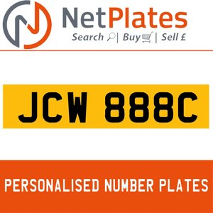 1900 JCW 888C Private Number Plate from NetPlates Ltd For Sale