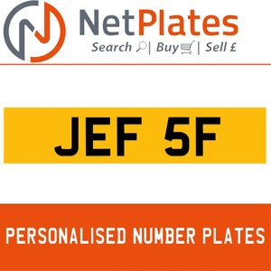 1900 JEF 5F Private Number Plate from NetPlates Ltd For Sale