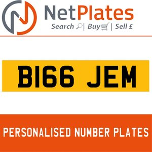1900 B166 JEM Private Number Plate from NetPlates Ltd For Sale
