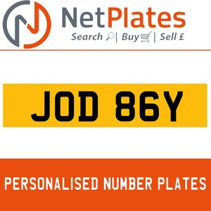 1900 JOD 86Y Private Number Plate from NetPlates Ltd For Sale