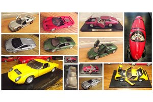MODEL CARS ferrri, aston, lambo, delorean, cadillac, trucks