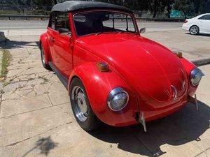 1972 VW Super Beatle Convertible Fun Cali Red driver $12.9k