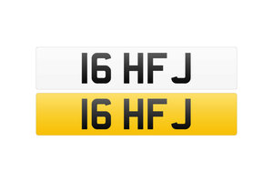 Registration Number - 16 HFJ