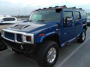 2006 HUMMER H2 SUV 4WD AWD 4x4 gas Blue driver $obo