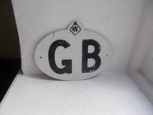 Vintage RAC   GB plate 1950 to 1960
