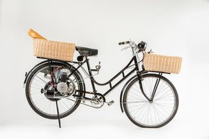 C.1949 ALPINO 48CC CYCLEMOTOR & DONISELLI BICYCLE (LOT 608) For Sale by Auction