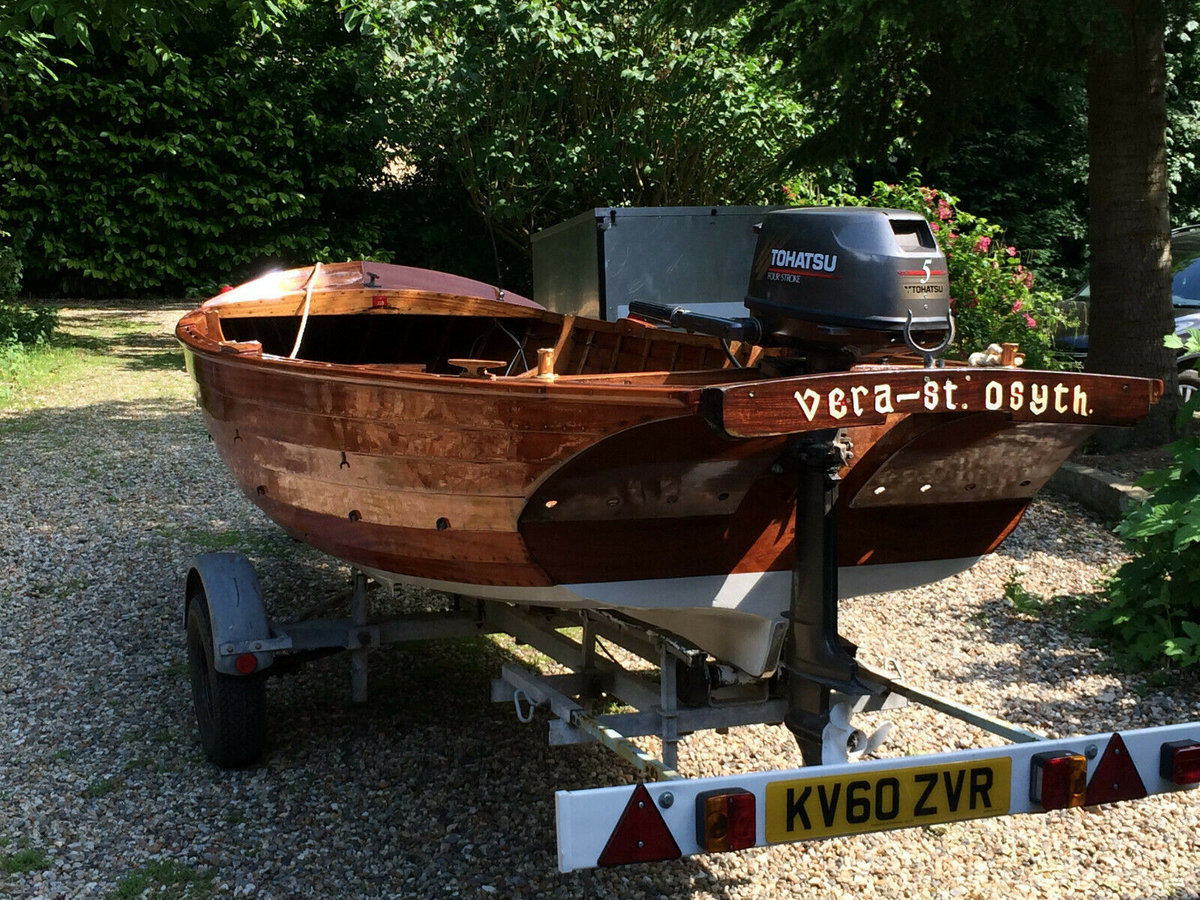 1960 Classic Wooden16 FT Clinker built with outboard motor  For Sale (picture 4 of 6)