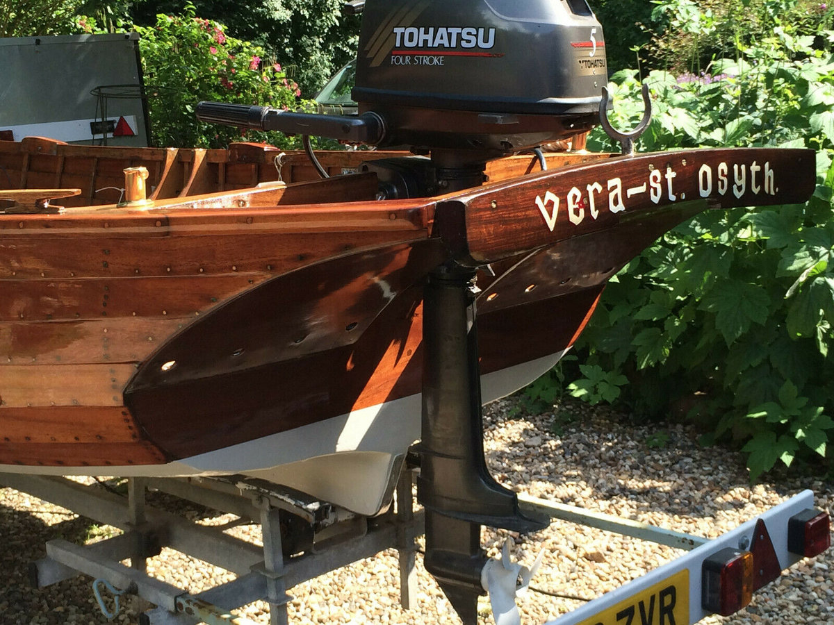 1960 Classic Wooden16 FT Clinker built with outboard motor  For Sale (picture 5 of 6)