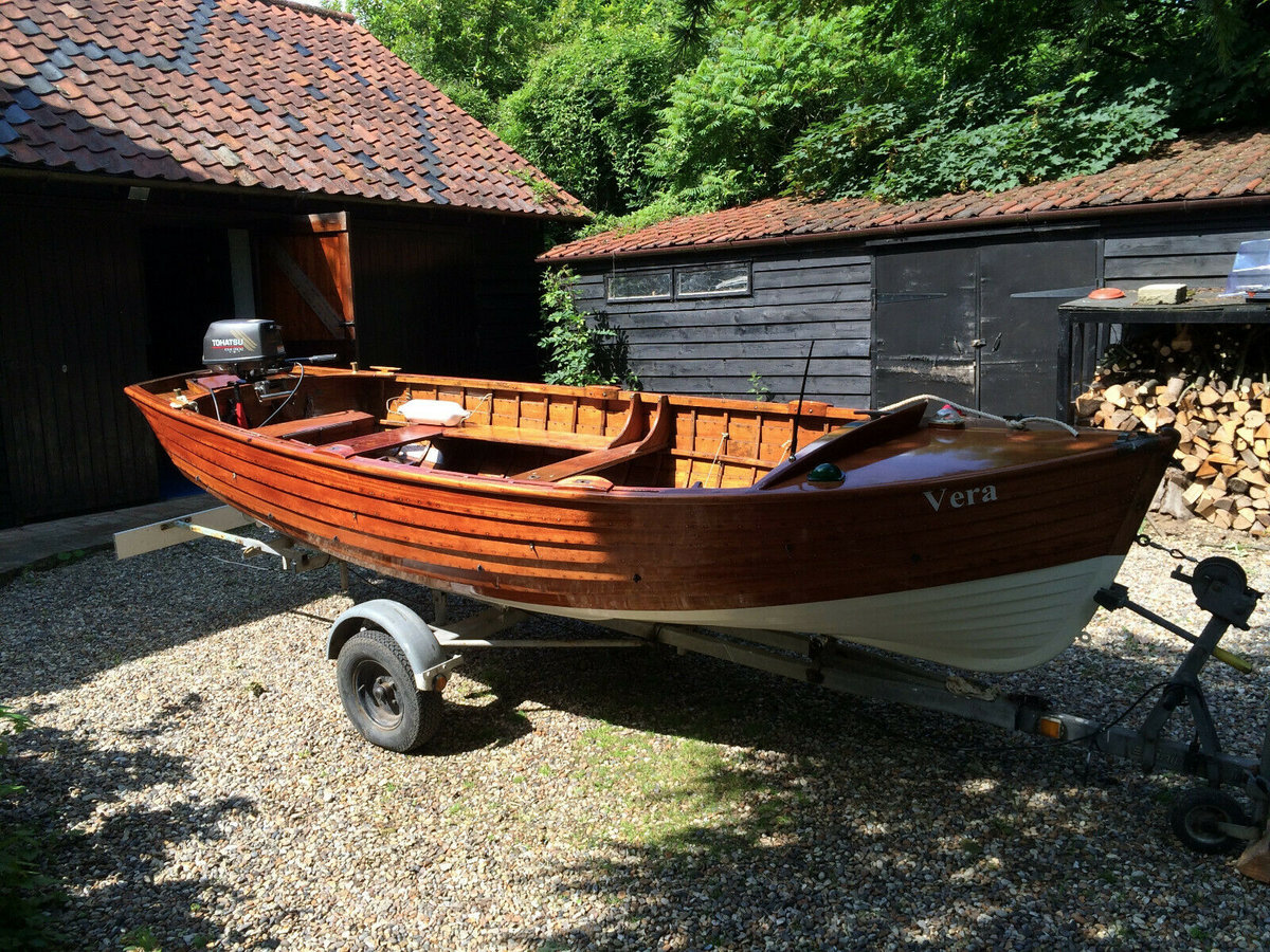 1960 Classic Wooden16 FT Clinker built with outboard motor  For Sale (picture 6 of 6)