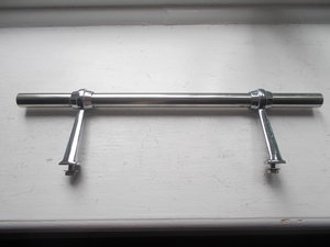 Vintage chrome badge bar