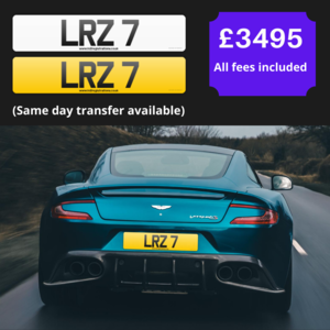"""LR7"" Single digit cherished registration / number plate"