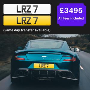"""""""LR7"""" Single digit cherished registration / number plate"""