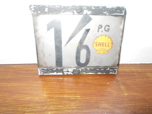 SHELL PETROL PRICE TAG SIGN FOR FUEL PUMP