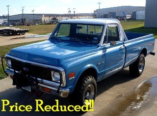 1972 Chevrolet C10 -Custom 4x4 Pick Up Truck 350 AT $19.7k