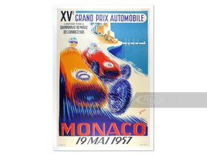 Monaco XV Grand Prix Automobile by B. Minne, 1957