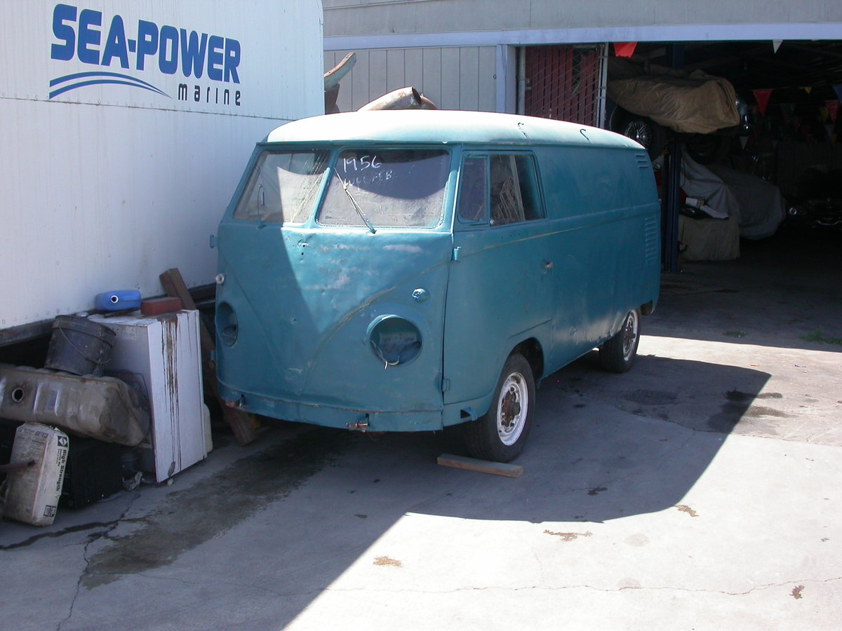 1956 Early split window panel van shipping included to uk For Sale (picture 1 of 6)