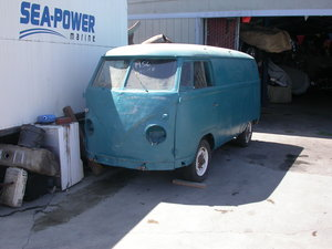 Picture of 1956 Early split window panel van shipping included to uk For Sale