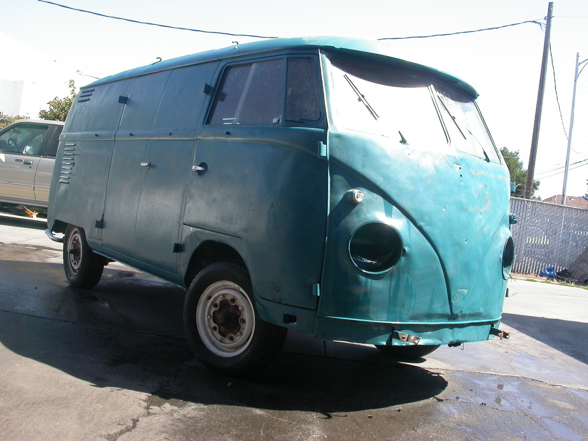 1956 Early split window panel van shipping included to uk For Sale (picture 2 of 6)