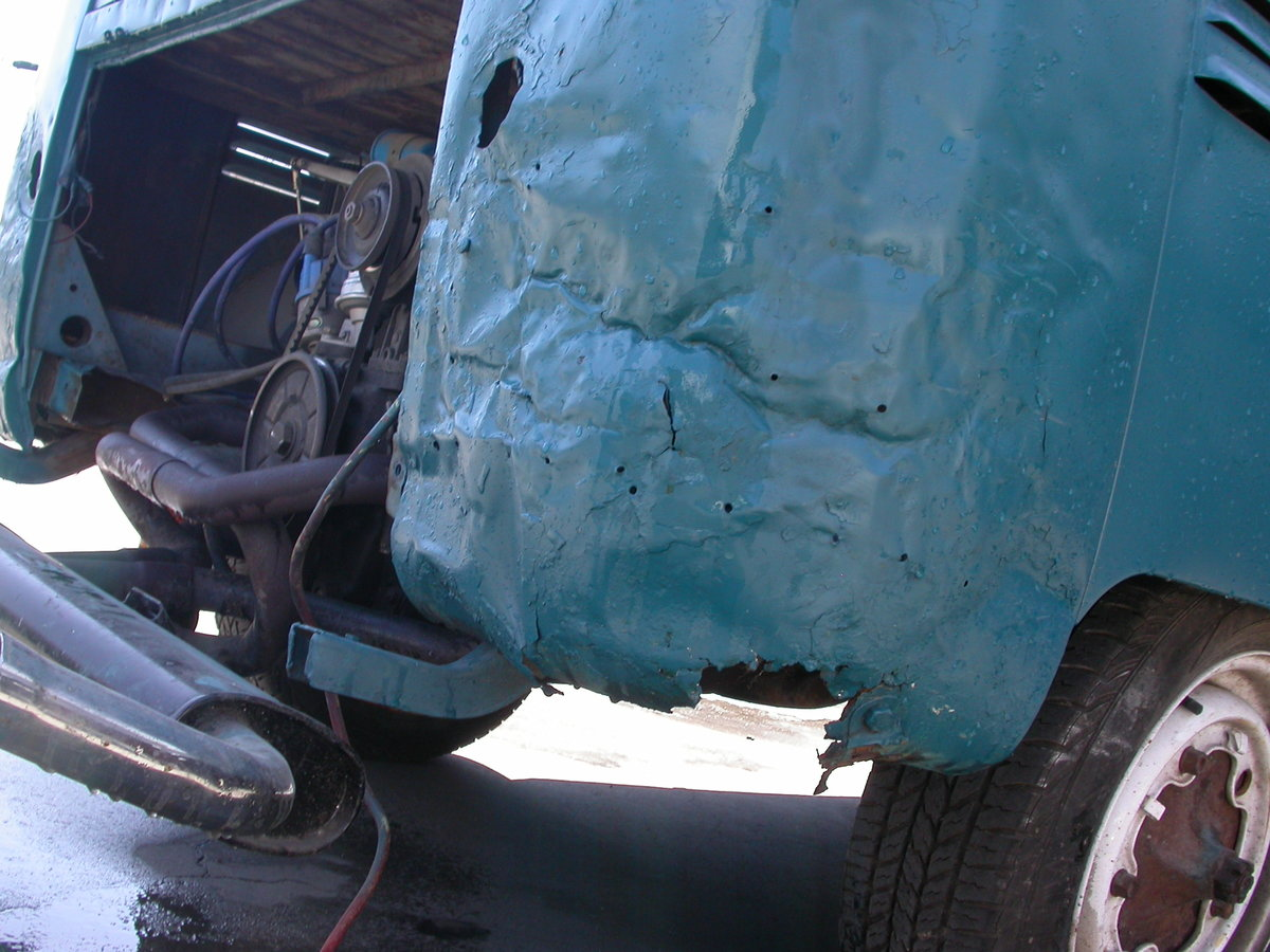 1956 Early split window panel van shipping included to uk For Sale (picture 6 of 6)
