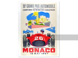 Monaco XV Grand Prix Automobile by J. Ramel, 1957