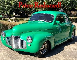 1941 Chevrolet Custom Coupe All Custom 600-HP Green $44.5k For Sale (picture 1 of 6)