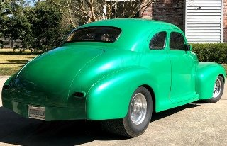 1941 Chevrolet Custom Coupe All Custom 600-HP Green $44.5k For Sale (picture 2 of 6)