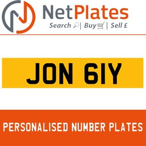 JON 61Y PERSONALISED PRIVATE CHERISHED DVLA NUMBER PLATE