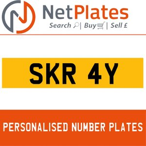 SKR 4Y PERSONALISED PRIVATE CHERISHED DVLA NUMBER PLATE