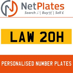 LAW 20H PERSONALISED PRIVATE CHERISHED DVLA NUMBER PLATE