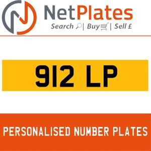 912 LP PERSONALISED PRIVATE CHERISHED DVLA NUMBER PLATE