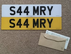 S44MRY Cherished Reg, Ideal S4/SAM number plate