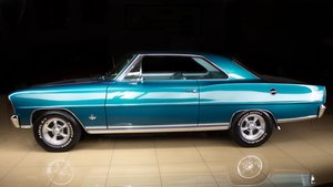 1966 Chevrolet Nova Coupe Restored Blue 58k miles $43.9k For Sale