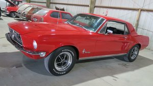1968 Ford Mustang Coupe 289 Auto Red Driver solid $19.5k For Sale