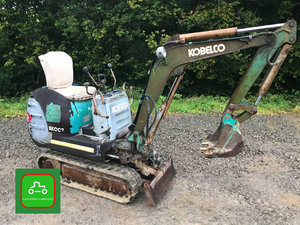 1999 KOBELCO SK007 3/4T EXPANDING TRACK MICRO DIGGER SEE VIDEO SOLD