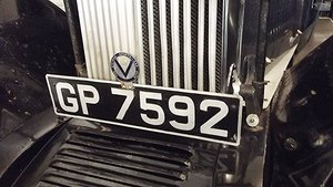 GP 7592  private registration plate