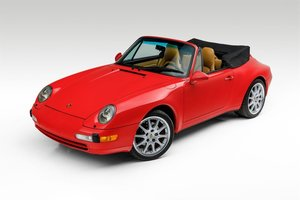1995 Porsche 911 Carrera Cabriolet Manual Red(~)Tan $52.5k