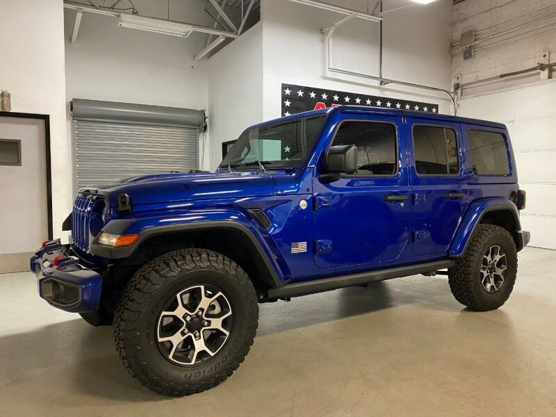 2018 Jeep Wrangler Unlimited Sport S 4x4 SUV Blue $49.7k For Sale (picture 1 of 6)