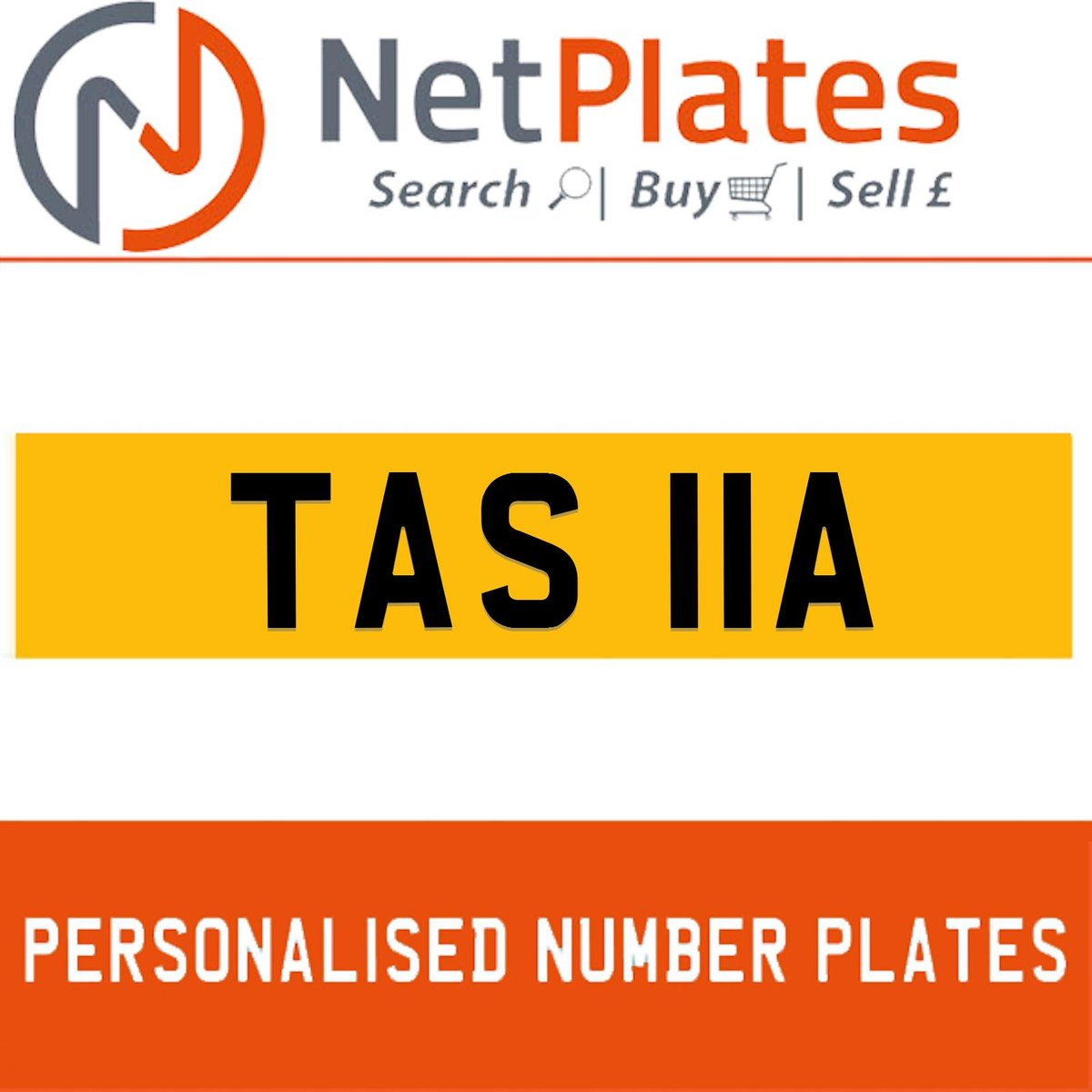 1900 TAS 11A PERSONALISED PRIVATE CHERISHED DVLA NUMBER PLATE For Sale (picture 1 of 5)