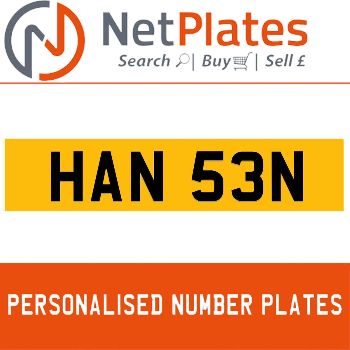 1900 HAN 53N PERSONALISED PRIVATE CHERISHED DVLA NUMBER PLATE For Sale (picture 1 of 5)