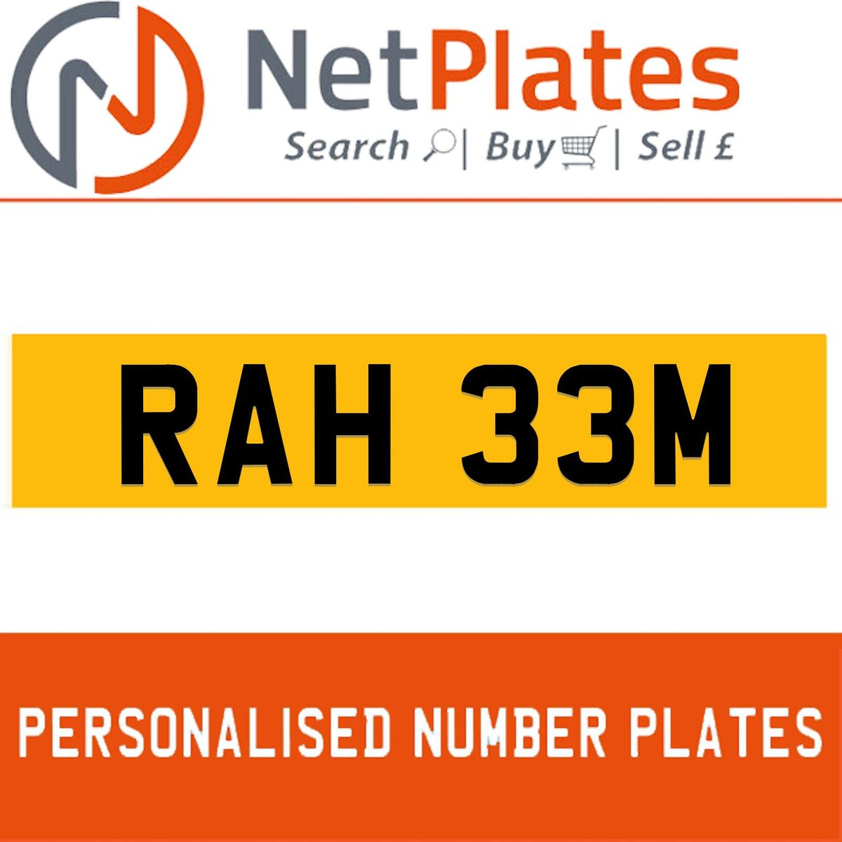1900 RAH 33M PERSONALISED PRIVATE CHERISHED DVLA NUMBER PLATE For Sale (picture 1 of 5)