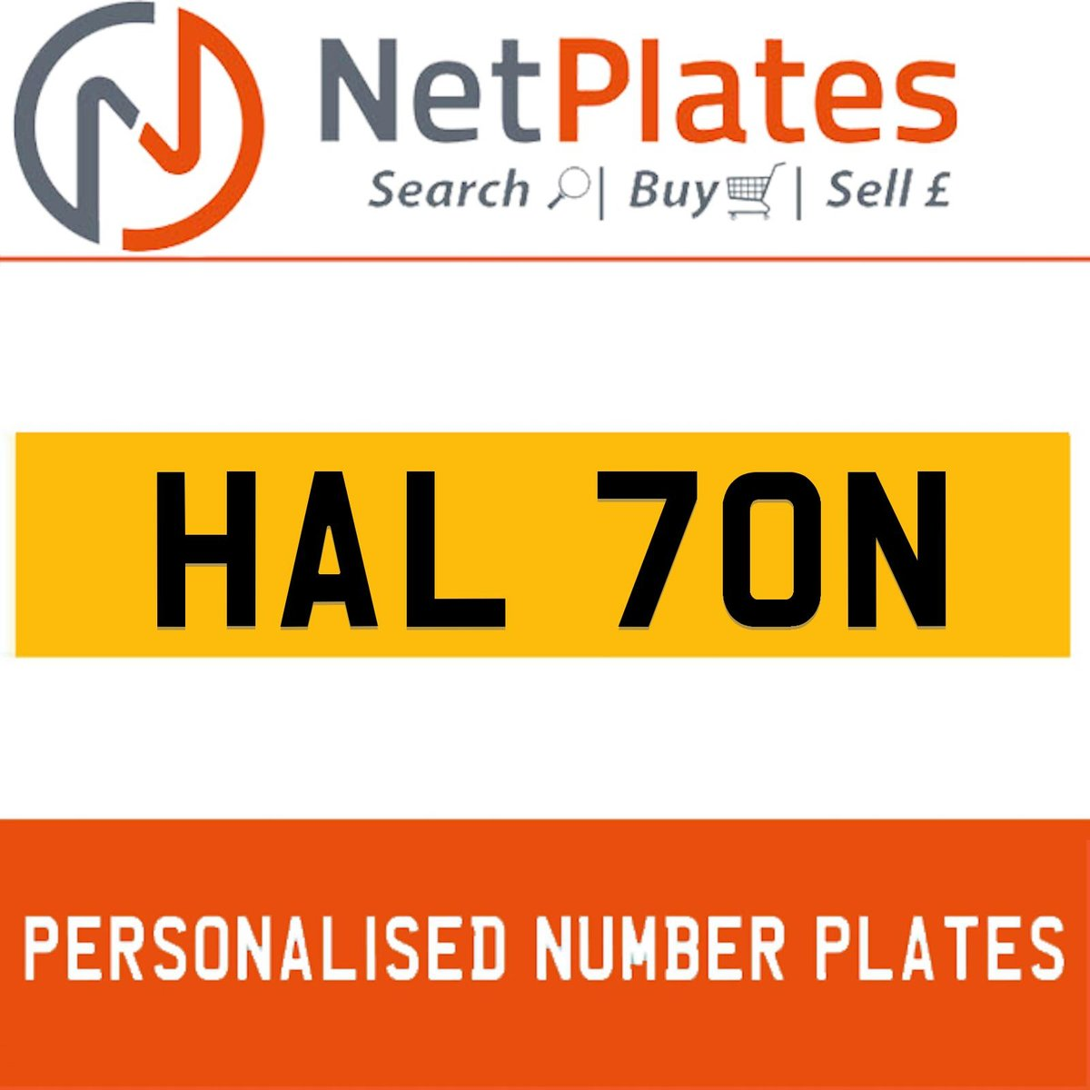 1900 HAL 70N PERSONALISED PRIVATE CHERISHED DVLA NUMBER PLATE For Sale (picture 1 of 5)