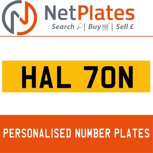 1900 HAL 70N PERSONALISED PRIVATE CHERISHED DVLA NUMBER PLATE